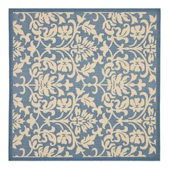 Bexton Blue/Natural Indoor/Outdoor Rug Rug Size: Square 7'10