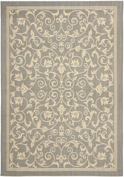 Santangelo Natural/Gray Outdoor Area Rug Rug Size: Rectangle 8'11