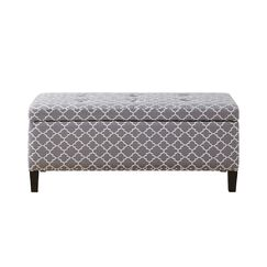 Bretton II Storage Ottoman Upholstery: Grey