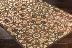 Winfrey Khaki Indoor/Outdoor Area Rug Rug Size: Rectangle 5' x 7'6