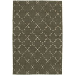 Allen Gray/Ivory Area Rug Rug Size: Rectangle 6'7
