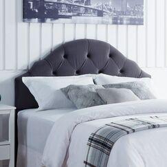 Everett Upholstered Panel Headboard Upholstery: Gray Velvet, Size: Full/Queen