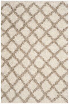 Knoxville Shag Beige/Ivory Area Rug Rug Size: Rectangle 5'1