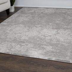 Jourdan Floral Gray Area Rug Rug Size: Rectangle 6'6