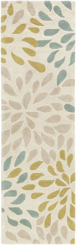 Carrie Hand-Tufted Moss/Olive Area Rug Rug Size: Runner 2'6