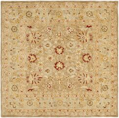 Potterslane Hand-Woven Wool Brown Area Rug Rug Size: Square 6'
