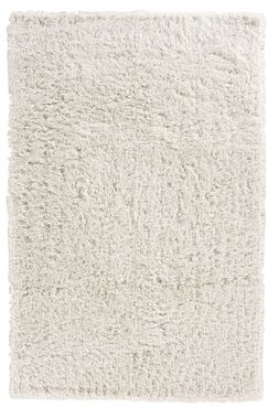 Kirtley White Shag Area Rug Rug Size: 2'6