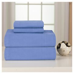 Medaryville Heavy Weight Flannel Solid Sheet Set Size: Twin XL, Color: Blue