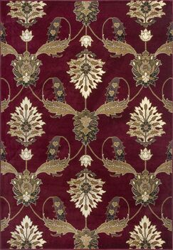 Greenfield Red Area Rug Rug Size: Rectangle 1'8