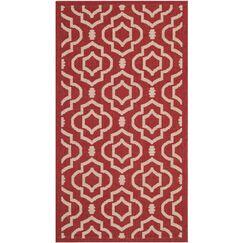 Octavius Red/Bone Outdoor Rug Rug Size: Rectangle 2'7