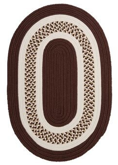 Germain Brown/Beige Area Rug Rug Size: Oval 10' x 13'