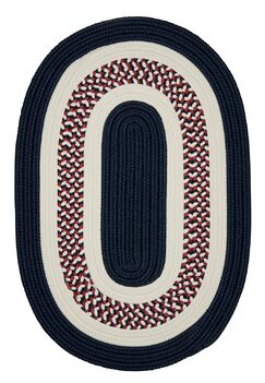 Germain Blue Area Rug Rug Size: Oval 2' x 3'