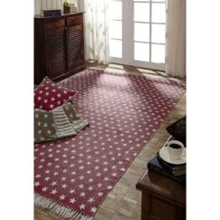 Noel Red/White Area Rug Rug Size: 4' x 6'