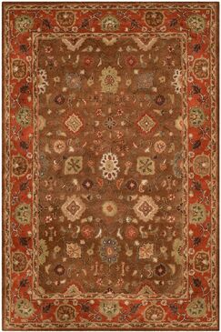 Cranmore Moss/Rust Area Rug Rug Size: Rectangle 9'6