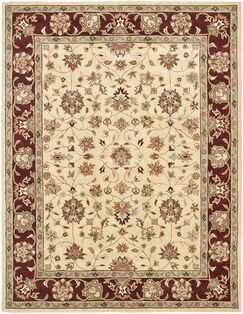 Cranmore Ivory/Red Area Rug Rug Size: Rectangle 6' x 9'