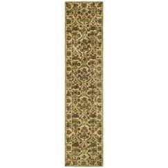 Dunbar Garden Panel Gold Area Rug Rug Size: Runner 2'3