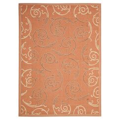 Octavius Terracotta/Cream Indoor/Outdoor Rug Rug Size: Rectangle 5'3