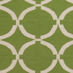Atkins Palm Green Geometric Area Rug Rug Size: Rectangle 8' x 11'