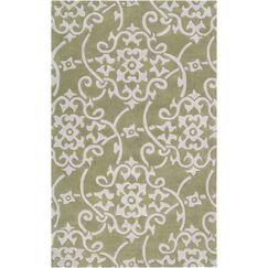 Shauna Hand-Woven Leaf Area Rug Rug Size: Rectangle 2' x 3'