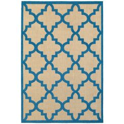 Winchcombe Sand/Blue Outdoor Area Rug Rug Size: Rectangle 9'10