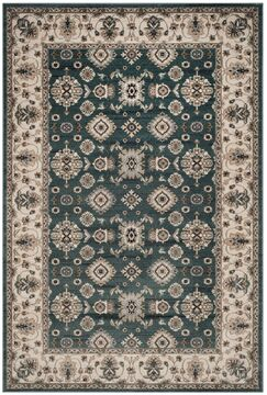 Briarcliff Teal/Cream Area Rug Rug Size: Square 7'