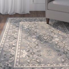 Freemanstown Gray/Cream Area Rug Rug Size: Rectangle 2' x 3'7