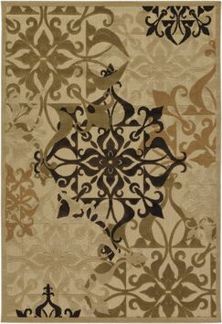 Clarendon Sand Indoor/Outdoor Area Rug Rug Size: Rectangle 8'7
