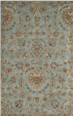 Cranmore Hand-Tufted Blue/Beige Area Rug Rug Size: Rectangle 8' x 10'