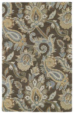 Casper Brown Odyusseus Brown/Tan Floral Area Rug Rug Size: Rectangle 5' x 7'9