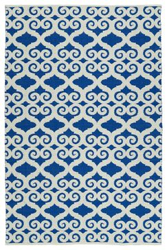 Covington White/Navy Indoor/Outdoor Area Rug Rug Size: Rectangle 9' x 12'