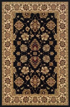 Currahee Black/Ivory Area Rug Rug Size: Rectangle 6'7