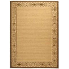 Lansbury Brown/Tan Indoor/Outdoor Area Rug Rug Size: Rectangle 2' x 3'7
