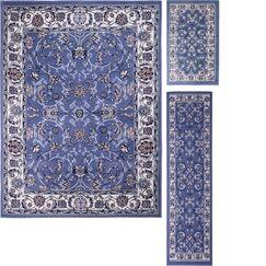 Gallaher 3 Piece Blue Area Rug Set