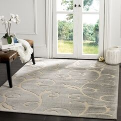 Bryan Gray/Cream Area Rug Rug Size: Rectangle 9' x 12'