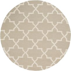 Blaisdell Beige Geometric Keely Area Rug Rug Size: Round 6'