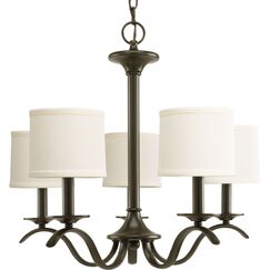 Greenwell 5-Light Shaded Chandelier Finish: Antique Bronze