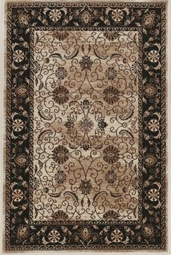 Bluff Canyon Beige/Black Area Rug Rug Size: Rectangle 2' x 3'