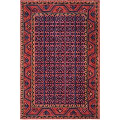 Robbins Southwestern Bright Red Area Rug Rug Size: Rectangle 4' x 6'