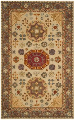 Cranmore Hand-Tufted Beige/Brown Area Rug Rug Size: Rectangle 5' x 8'