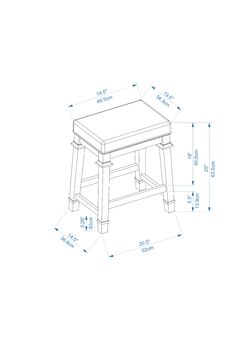 Kennedy Counter Stool Seat Height: Counter Stool (24