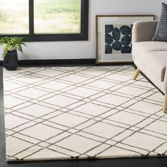 Dirks Hand-Tufted Wool Ivory Area Rug Rug Size: Rectangle 3' x 5'