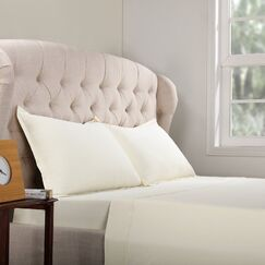 Geoffrey 100% Cotton Jersey Bed Sheet Set Color: Ivory, Size: Full