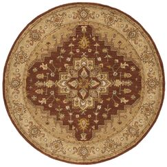 Cranmore Rust/Gold Rug Rug Size: Round 6'