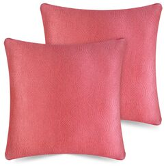 Brynn Case Textured Accent Indoor/Outdoor Pillow Cover Color: Pink, Size: 20