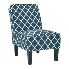 Ferebee Side Chair Upholstery: Navy/Solid, Nailhead Detail: Nailheads Included