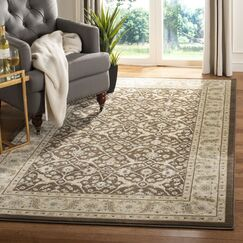 Lavelle Brown / Ivory Area Rug Rug Size: Rectangle 5'3