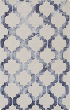 West Harptree Beige/Blue Area Rug Rug Size: Rectangle 8' x 10'