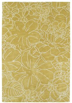 Hand-Tufted Yellow/Ivory Area Rug Rug Size: Rectangle 8' x 10'