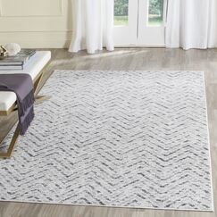 Connie Ivory/Charcoal Area Rug Rug Size: Rectangle 4' x 6'