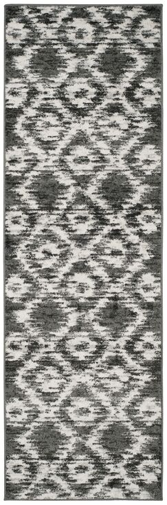 Connie Charcoal/Ivory Area Rug Rug Size: Runner 2'6
